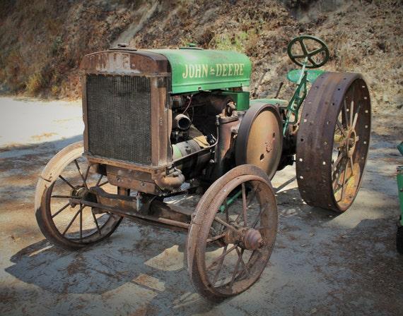 Old John Deere Tractor photo