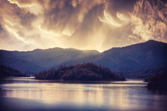 A Beautiful Storm (CANVAS) Shasta Lake Northern California