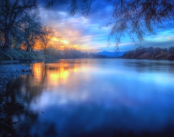 The Last Light (prints) long exposure photograph sunset Sacramento River California