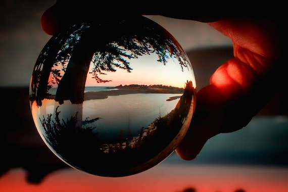 Holding a Sunrise in Gualala California refraction photography Beach (Metal Panel)