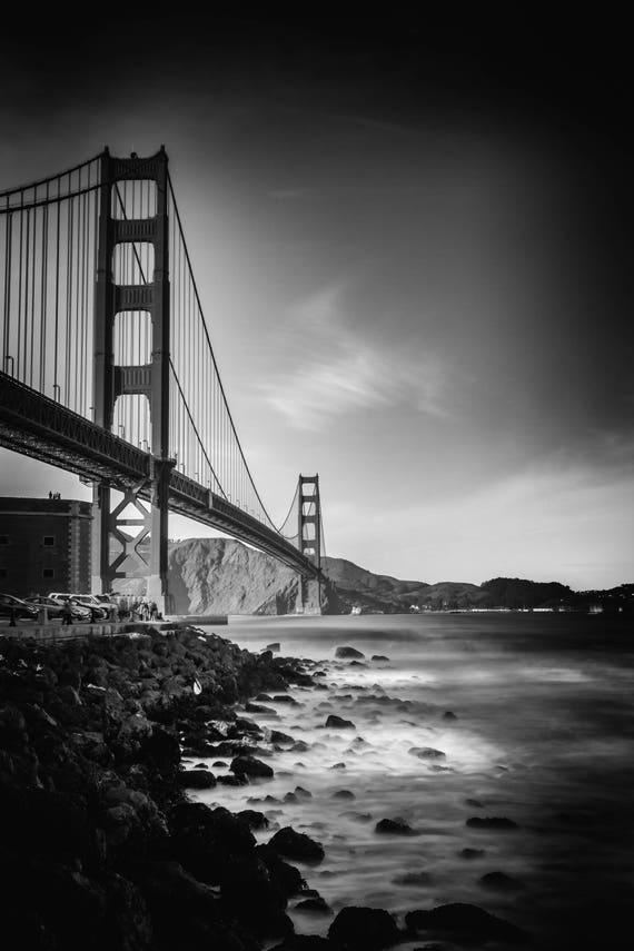 Aligned  Metal Panel of Golden Gate Bridge San Francisco California