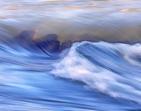 Making Waves (Prints)  Water rushing over rocks on the Rogue River Oregon