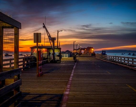 Harford Pier at Sunrise (Prints) Avila Beach San Luis Harbor California