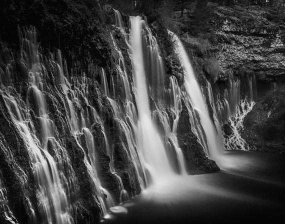 Burney Falls in Black and White