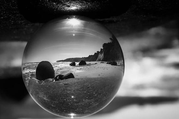 Beach Ball refraction photography Bowling Ball Beach (Metal Panel)