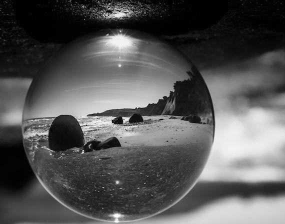 Beach Ball Bowling Ball Beach Northern California (Prints)