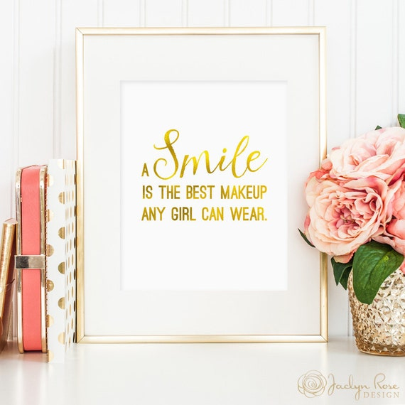 A Smile Is The Best Makeup Any Girl Can Wear Marilyn Monroe Etsy