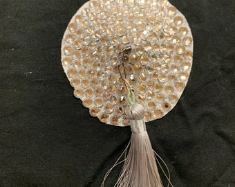High quality mc glass rhinestone pasties with full spinners