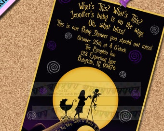 Nightmare before christmas baby shower etsy nightmare before christmas baby shower invitation evite jack sally baby shower invite nbc baby sprinkle invite matching items in shop filmwisefo