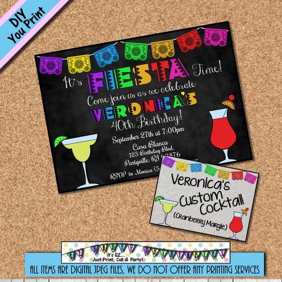 FIESTA Geburtstag Einladung mexikanisches Spanisch Latin | Etsy