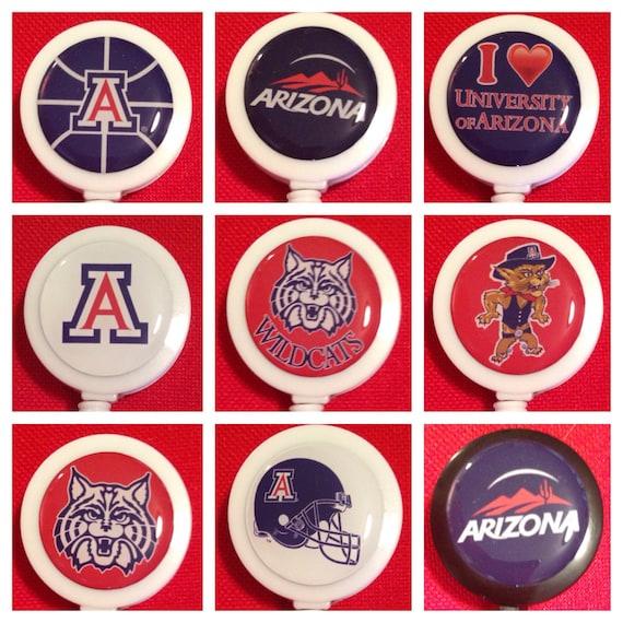 University Of Arizona Wildcats Id Badge Name Tag Holder Etsy