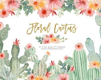 Desert Wedding Watercolour Southwest Wedding Watercolor Wreath Watercolor Flowers Greenery Clipart Watercolor Cactus Clip Art