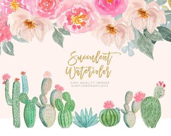 watercolor cactus svg