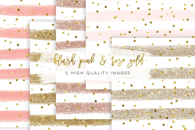 Sfondo Oro Blush Fard E Oro Carta Da Parati Acquerello Rosa Etsy