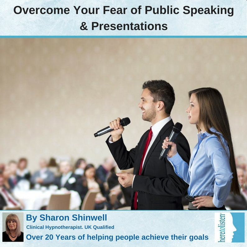 Public Speaking & Presentation Nerves - Self-Hypnosis CD by Sharon  Shinwell, UK Qualified Clinical Hypnotherapist @ Half Price