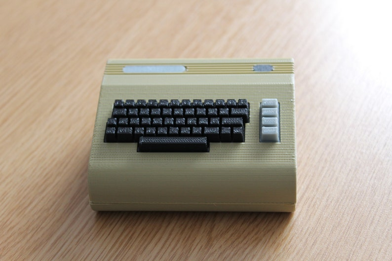 3D Printed Commodore 64 inspired Raspberry Pi 2/3B/4B retropie case