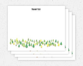 Trees Thank You Note Cards - Set of 4