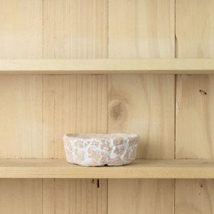 Ceramic Pot rustic Rock planter Bonsai pots Containers Wood bark texture PM021 Vintage planter