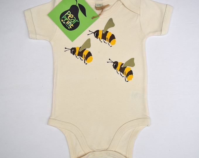 Baby bodysuit seconds. Organic cotton, slightly imperfect at a reduced price.