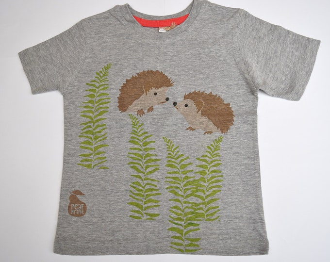 Sale - Hedgehogs at dusk! Hedgehogs with ferns childs T-shirt.