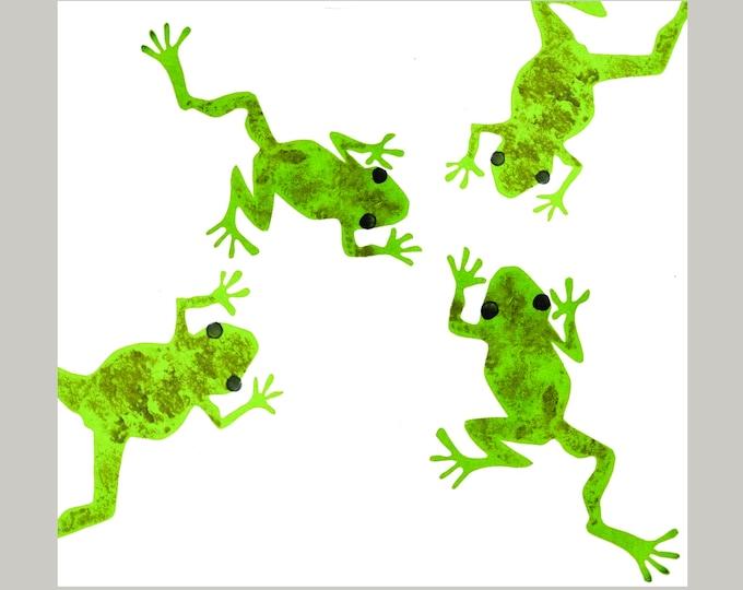 Frogs Greetings Card.