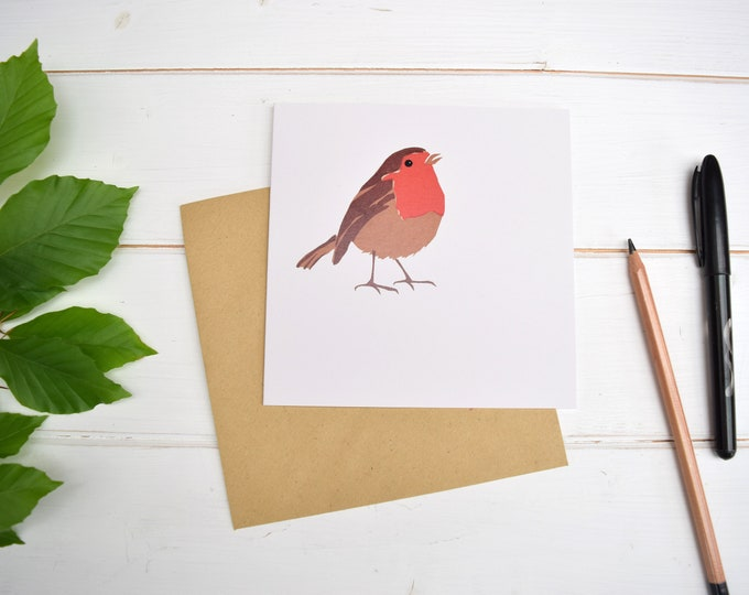 Robin Greetings Card. Christmas Card. Garden birds. Bird lovers card.