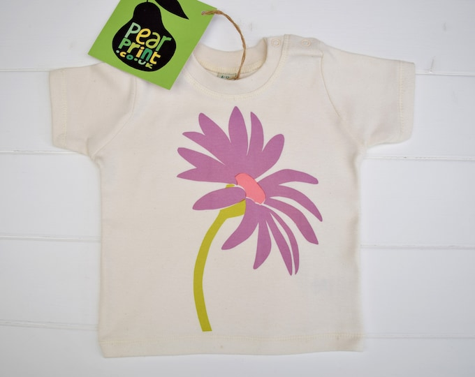 Sale - daisy baby or toddler t-shirt in organic cotton