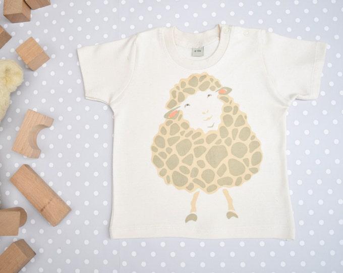 Sheep baby t-shirt in organic cotton.