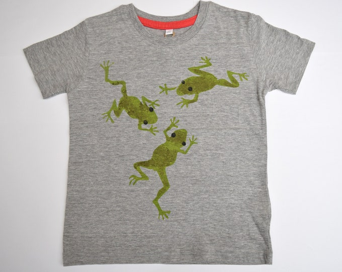Sale - Frogs toddler T shirt. Printed on the back too!