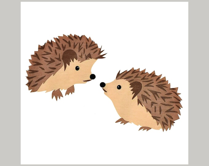 Hedghogs Greetings Card.