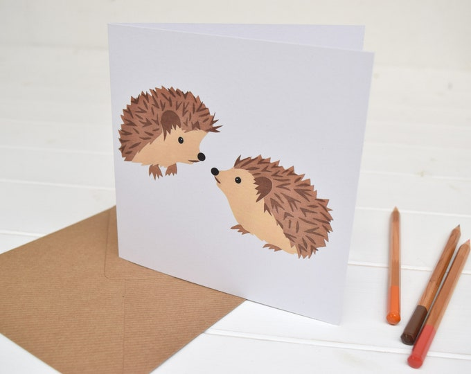 Hedgehogs Greetings Card.