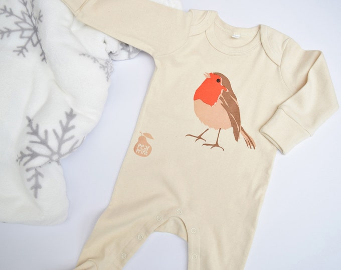 Baby sleepsuit seconds. Organic cotton, slightly imperfect at a reduced price.