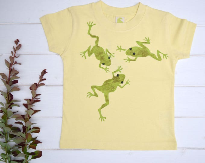Frogs toddler T shirt. Printed on the back too!