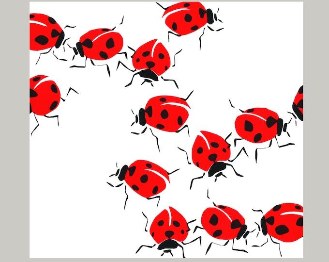 Ladybirds Greetings Card.