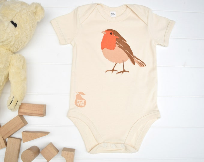 Baby and toddler robin seconds. Organic cotton, slightly imperfect at a reduced price.