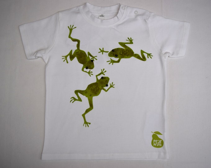 Mis-printed frogs toddler T shirt. Printed on the back too!