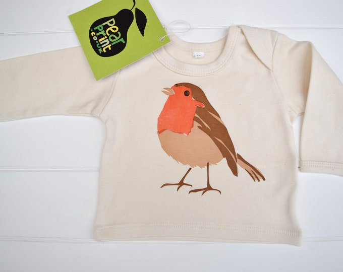 Sale - robin baby long sleeve top in organic cotton
