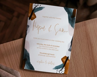 harper collection || wedding stationery, invitation suite, minimal, calligraphy, simple, modern, beautiful