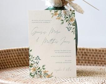 genesis collection || wedding stationery, invitation suite, minimal, calligraphy, simple, elegant, beautiful