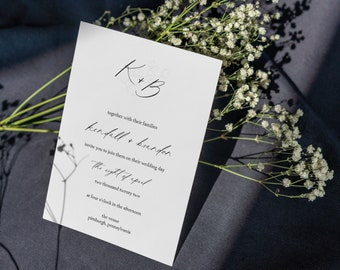 kendall collection || wedding stationery, invitation suite, minimal, calligraphy, simple, elegant, beautiful