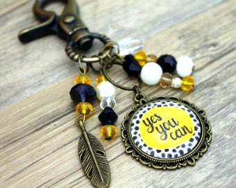 """Bag - key Bohemian """"yes you can"""" - quote"""
