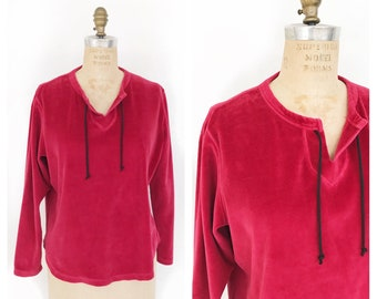 Merlot velour Northern Reflections sweatshirt. Size M.