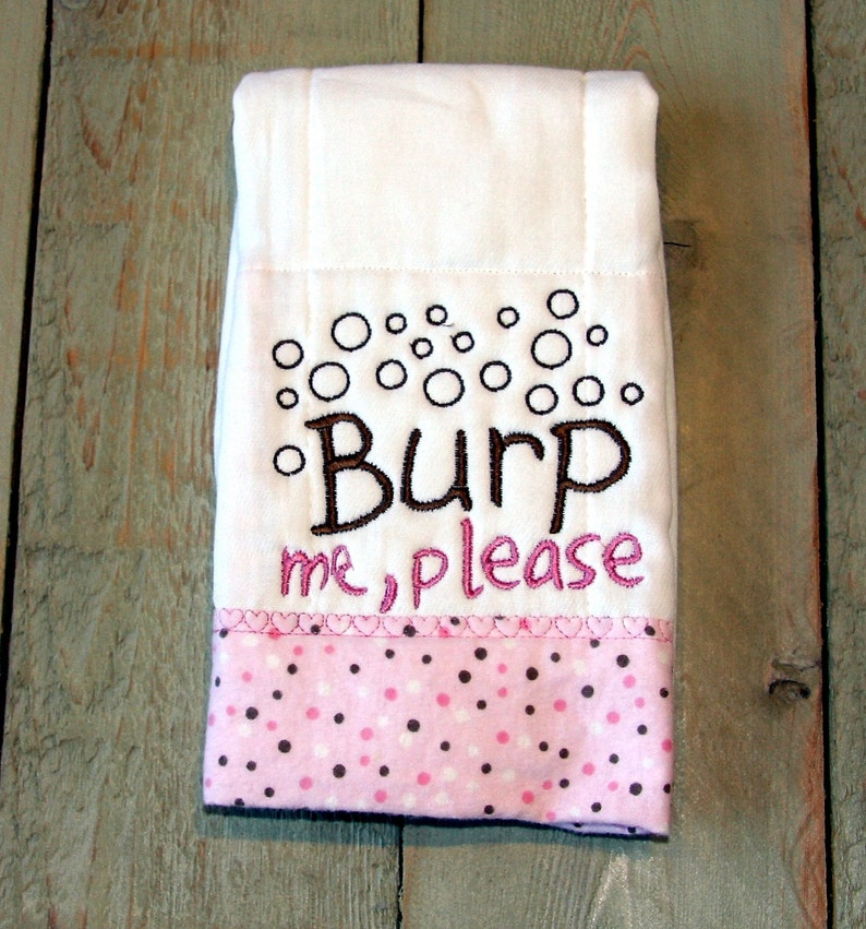 Baby Burp Cloth Custom Embroidery Personalize Burp Me Etsy