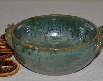 pottery bowl, soup bowl, pasta bowl, serving dish, cereal bowl, kitchen bowl, baking dish, dessert bowl, green pottery