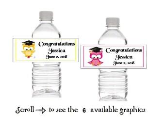 Waterproof Water Bottle Label Owl Capri Sun Label Baby Shower
