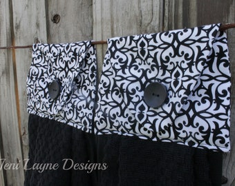 Hanging Kitchen Towels- Set of 2   Hanging Towels, Kitchen Towels, Gift under 20, Housewarming Gift, Kitchen decor