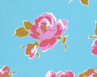 Fat Quarter_Maeve in Blue, Poodle by Jennifer Paganelli OOP HTF Designer Cotton Fabric