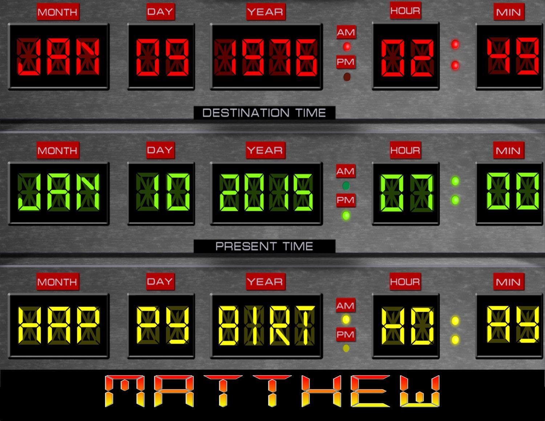 Back To The Future Circuit Board Cake Digital Image File Etsy Scoreboard 50