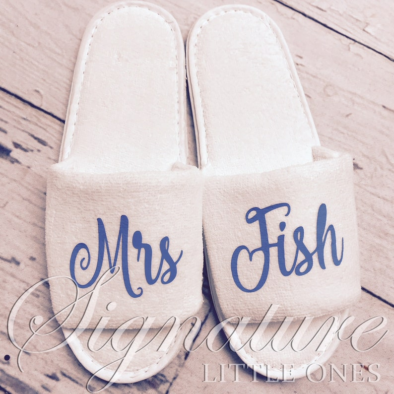 665825b068 Personalized Slippers Custom Slippers Bridal Slippers | Etsy