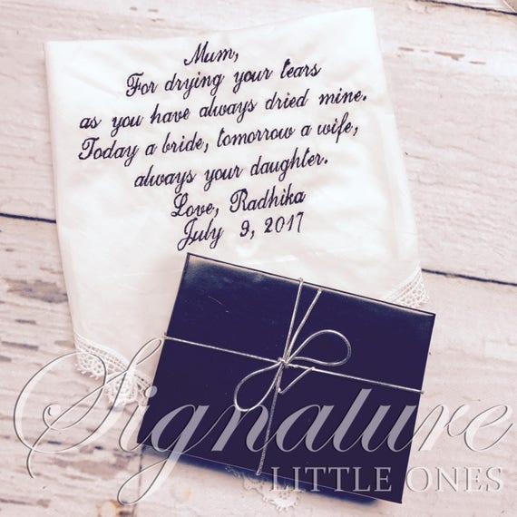 Wedding Handkerchief For Mother of Bride - Mother of Bride Handkerchief, Handkerchief For Mother of Bride - Mother of Bride Gift